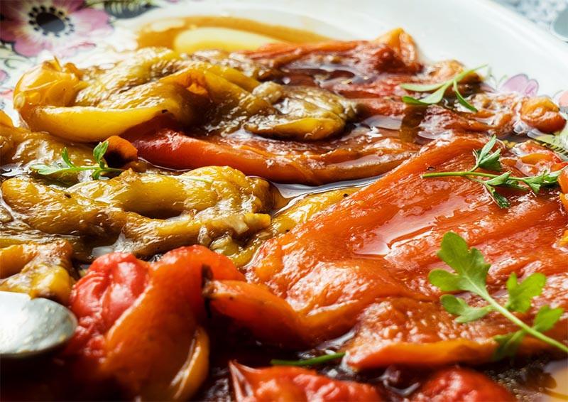 pecene papriky recept