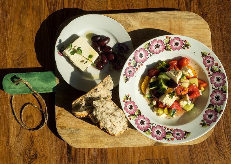 grecky salat recept
