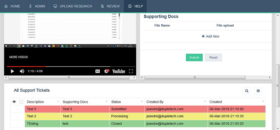 thebe application screenshot