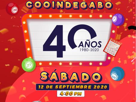 GANADORES BINGO VIRTUAL COOINDEGABO 40 AÑOS