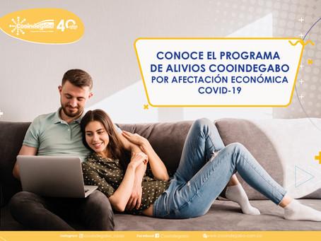 PROGRAMA DE ALIVIOS COOINDEGABO POR AFECTACIÓN ECONÓMICA COVID-19