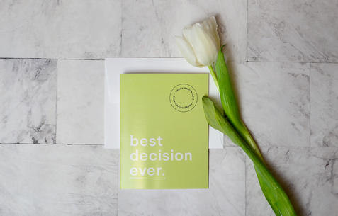 Best Decision Ever, Anniversary Folding Card | $5.99