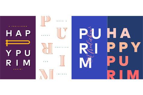 4 Purim Wallpapers, v1   $5.99