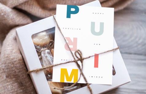 Purim Pastels, Folding Card | $5.99 - SALE $5.09
