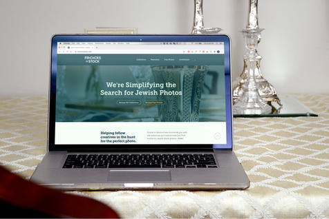 Laptop Website Mockup on Table, Front 2 | $6.99