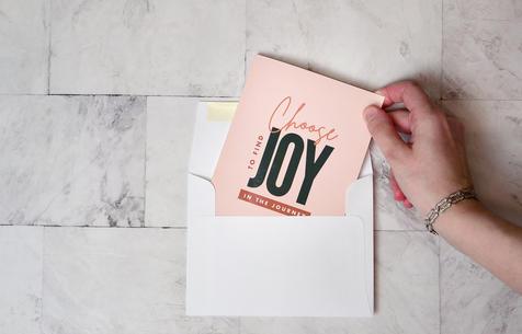 Choose to Find Joy Motivational Folding Card | $5.99