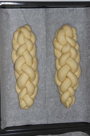 Braided challah dough