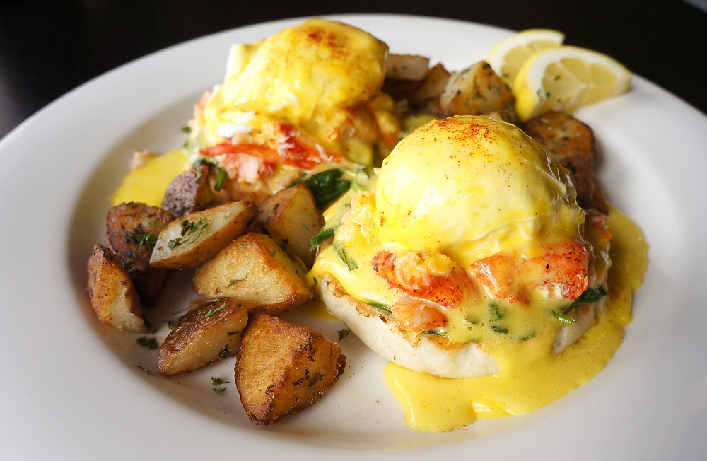 Lobster Benedict with Potato Hash