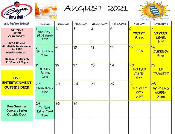 AUG 2021 calendar