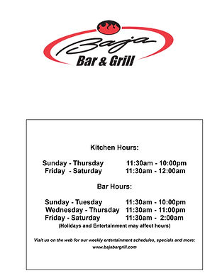 Baja Bar & Grill hours