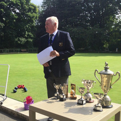 Club President Ready To Present the Trophies