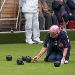 Call for the Umpire in Fenwick Mixed Pairs Final 2021