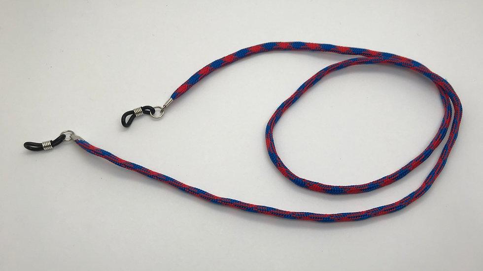 Cadena cordón bicolor / rojo
