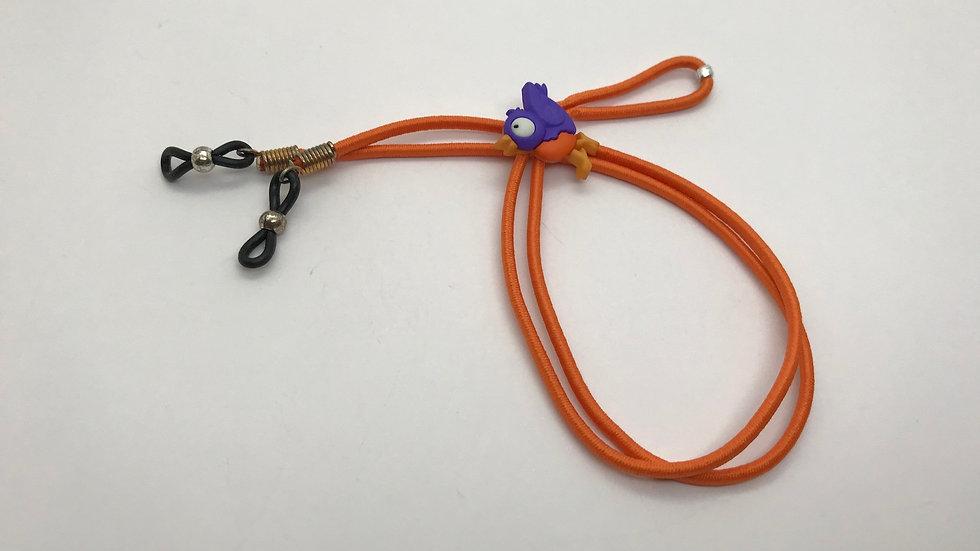 Cordón elasticado pajaríto / naranjo