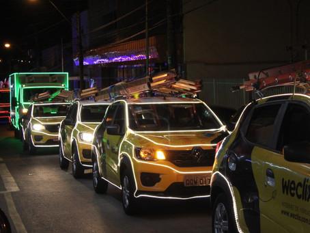 Provedora de internet realizou carreata de Natal em Ribeirão Preto