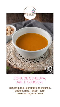 SOPA CENOURA MEL E GENGIBRE