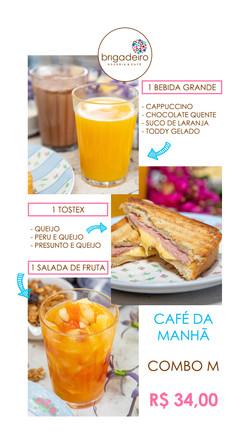 CAFÉ DA MANHÃ COMBO M