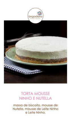 TORTA MOUSSE NINHO E NUTELLA