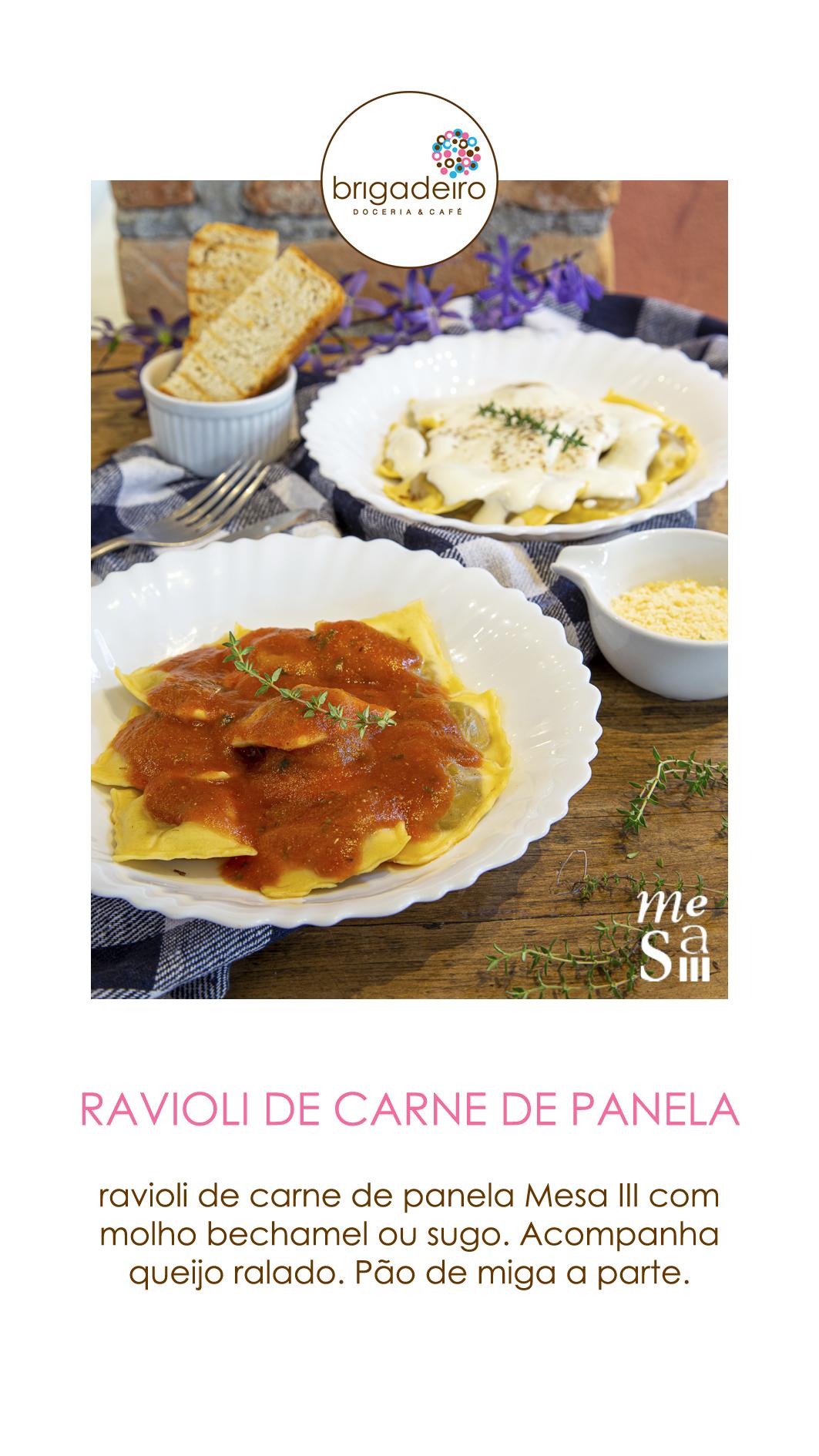 RAVIOLI DE CARNE DE PANELA