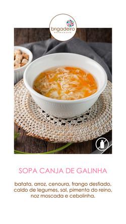 SOPA CANJA DE GALINHA