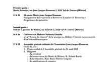 50 ans du Musée Jean-Jacques Rousseau à Môtiers