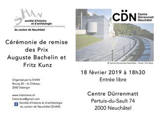 Cérémonie des Prix Bachelin et Kunz 2019