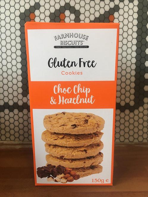 Gluten Free - Choc Chip & Hazelnut Cookies - 150g
