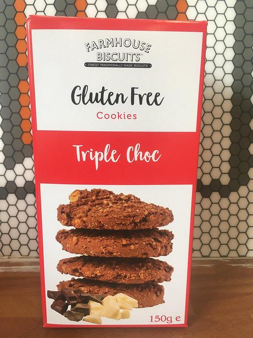 Gluten Free - Triple Choc Cookies - 150g