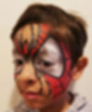 Spider man face painting