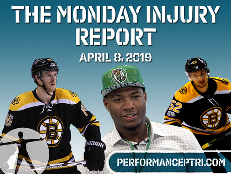 Monday Injury Report- Monday, April 8, 2019
