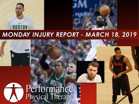 Monday Injury Report - March 18, 2019
