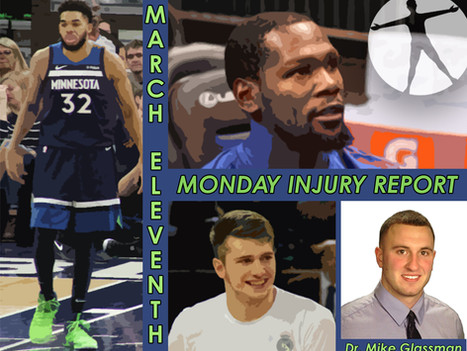 Monday Injury Report- March 11, 2019