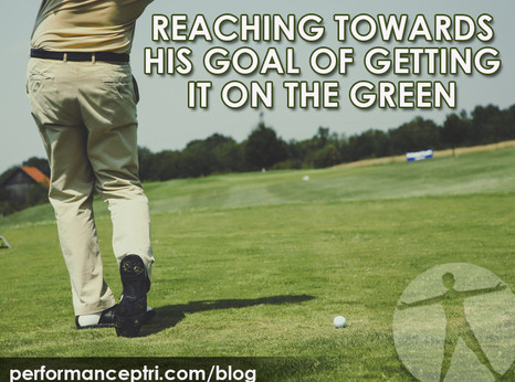 Reaching Towards his Goals of Getting it on the Green