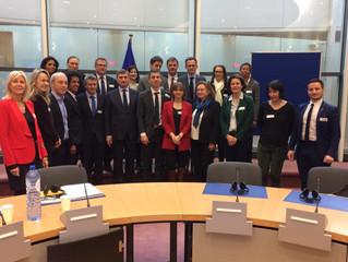Déplacement à Bruxelles avec la Commission des Affaires culturelles et de l'Education