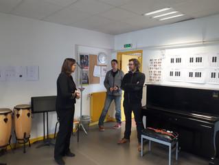 Besançon - Visite de l'école de musique de Planoise