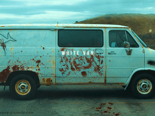 "Official first image of The Van from the film ""White Van"" and it's creepy AF!"