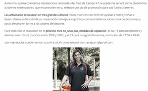 Academia minibasket y baloncesto femenin