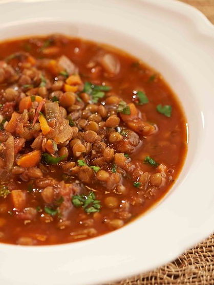 Lentil and Tomato Soup (In a slow cooker)