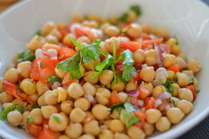 Chickpea Salad With a Hint of Chilli