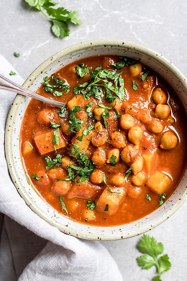 Moroccan Chickpea Stew (In a slow cooker)