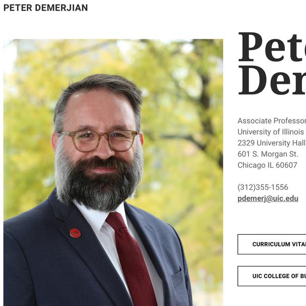 Peter Demerjain, UCI Professor