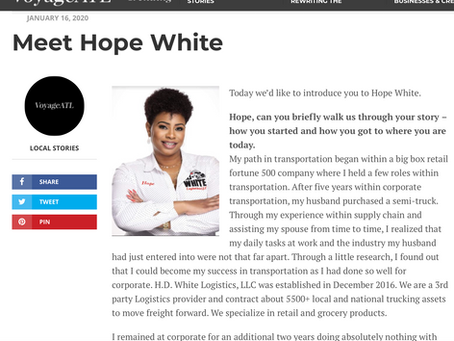 Voyage ATL Covers Hope White