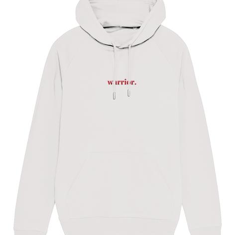 warrior embroidered hoodie
