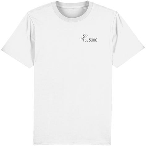 1 in 5000 embroidered tee
