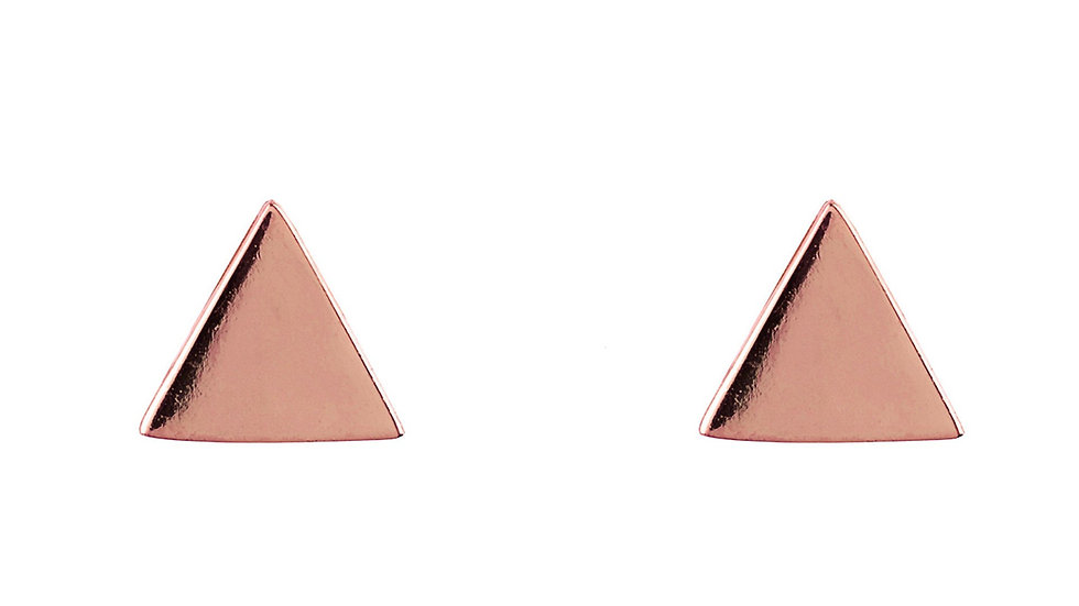 Cosmic Triangle Stud Earrings