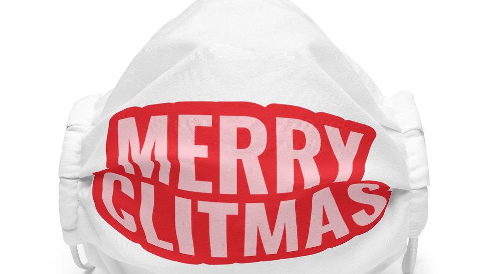 Merry Clitmas face mask