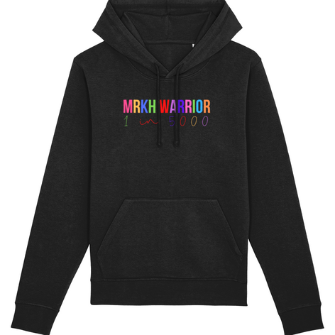 The MRKH Warrior rainbow hoodie