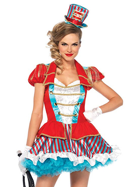 Circus girl party host