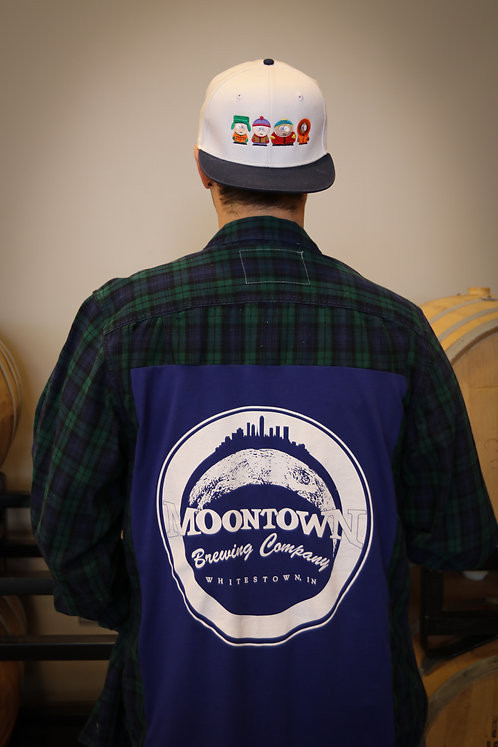 Blue Moontown Logo Flannel
