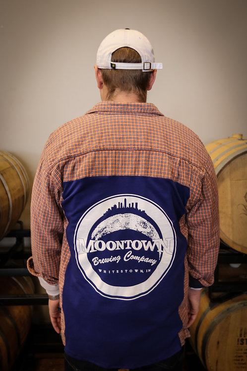 Blue Moontown Logo Flannel